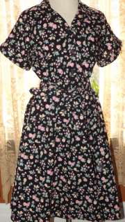 California LOOKS Swinging Party Dress Apples Pineapples Size 16P