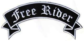 Free Rider Large Back Motorcycle Embroidered Patch