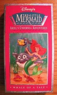Little Mermaid Ariels Undersea Adventures WHALE OF A TALE VHS VIDEO