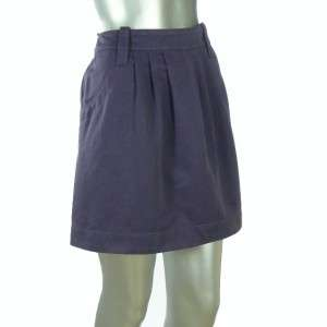See By Chloe Purple Cotton Pleated Front Short Skirt Regular 10