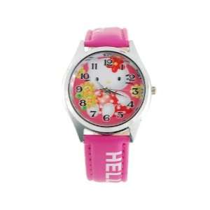 Cute Hello Kitty Cartoon Girls Kids Watch Pink