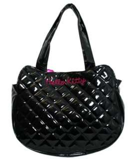 Hello Kitty Black Quilted Face Tote Bag by Loungefly