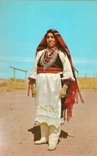 Pueblo Woman Full Dress Native American Indian Postcard