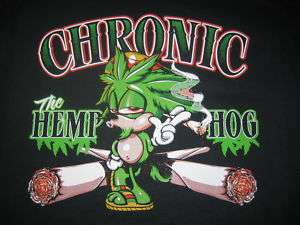 CHRONIC HEMP HOG Pot Weed Smoke Adult Humor Funny Tee