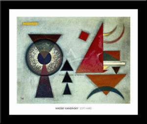 SOFT HARD, 1927 Abstract art FRAMED PRINT   Kandinsky
