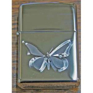Zippo Custom Lighter   Engraved Butterfly HPC Health