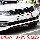 Fron Hood Bumper Direc Aero Guard Sicker Black 1P For 11 12 Kia