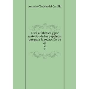 para la redacción de un . 2: Antonio Cánovas del Castillo: Books