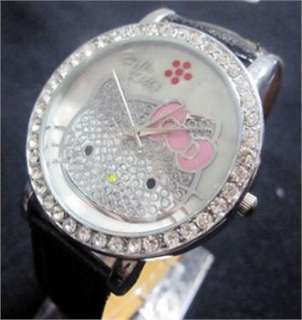 New Big dial lovely hellokitty Girls Wrist Watch Quartz Fashion lovely
