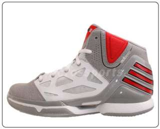 Adidas adiZero Rose 2.5 J Silver Red New 2012 Youth Basketball Shoes