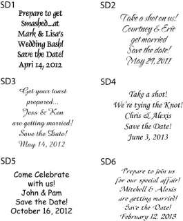 50 Personalized Save the Date Wedding Shot Glasses