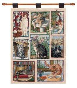 KITTY CORNER ~ CATS & KITTENS Tapestry Wall Hanging |