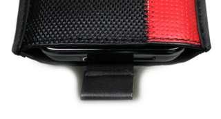 HOUSSE ETUI CUIR POCKET DE PROTECTION LG OPTIMUS HUB E510 rouge & noir