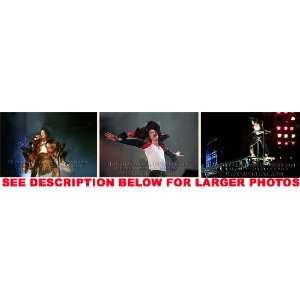 MICHAEL JACKSON HISTORY TOUR EARTH SONG (3) RARE 8x10 FINE
