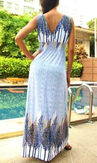 NEW Ladies Sexy Summer Long Maxi Dress L XL US 12 16