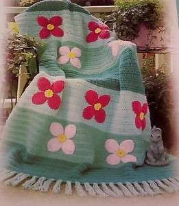 FLOWER GARDEN Afghan Crochet Pattern*flowers*floral
