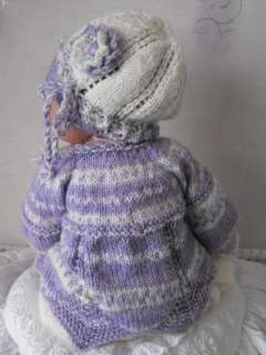 GIRLS KNITTED HAT AND SHORTS SET FOR 21/24 REBORN BABY