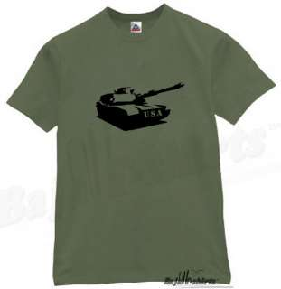US ARMY TANK T SHIRT COOL RETRO GRAPHIC TEE OLIVE XL