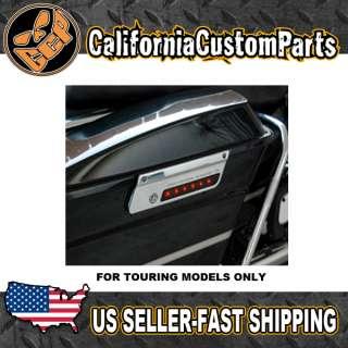 Custom Saddlebag latch Cover Accent Lights For Harley Touring FLH FLHT