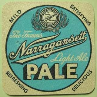 NARRAGANSETT BANQUET ALE PALE Beer COASTER Rhode Island