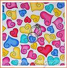 BOOAK Fabric SSI Basic Kid B&W * Valentine Candy HEART
