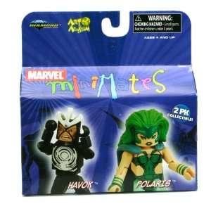 Minimates 2Pk Collectible Figures   Havok Vs. Polaris Toys & Games