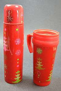Pylones Starbucks Thermos Travel Mug Red Christmas