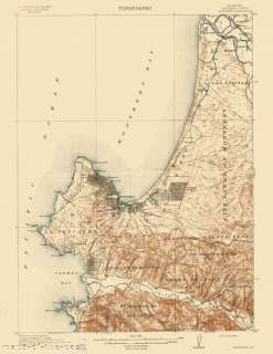 USGS TOPO MAP MONTEREY QUAD CALIFORNIA (CA) 1913 MOTP