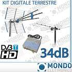 KIT ANTENNA DIGITALE TERRESTRE ANTENNE VHF UHF CON CENT