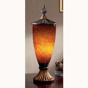 Glass Urn Lamp by Austin Productions
