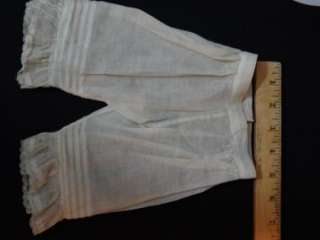 ANTIQUE PLEATED UNDERPANTS FOR GERMAN/FRENCH DOLLS {7/7}