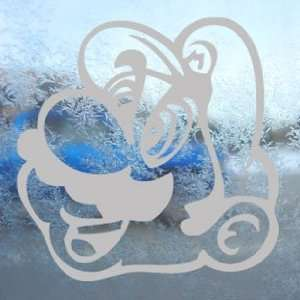 Super Mario Brothers Gray Decal Car Truck Window Gray