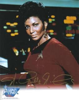 Nichelle Nichols Classic Star Trek Lt. Uhura Autograph