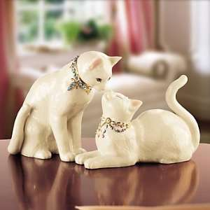 : LENOX CHARISMATIC CATS CAT ANIMALS AWAKE TO A KISS: Home & Kitchen