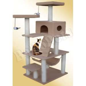 72 Light Brown Cat Tree Condo Furniture Scratch Post Pet