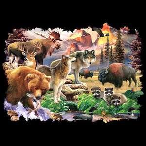 Wolf Shirts Forest Friends Bear Deer Raccoon Moose T Shirt Hoodie Long