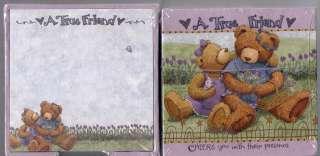True Friend Teddy Bears Garden Memo Box Stationery Paper Teresa