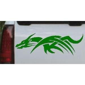 Dark Green 26in X 9.1in    Tribal Dragon Car Window Wall Laptop Decal