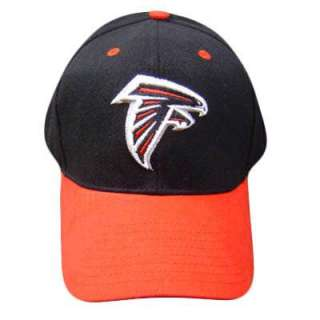 NFL ATLANTA FALCONS LOGO BLACK RED COTTON CAP HAT ADJ