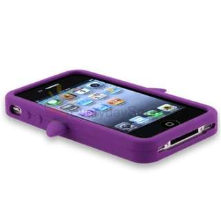 Silicone Rubber Case Cover For iPhone 4 4G 4S Verizon Sprint AT&T