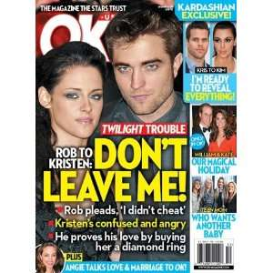 Robert Pattinson, Kristen Stewart   December 2011: Ok Mag: Books