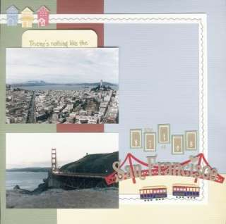 PAPER HOUSE TRAVEL SAN FRANCISCO CA SCRAPBOOK STICKERS