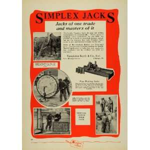 1930 Ad Templeton Kenly & Co. Simplex Jacks Pipe Pole   Original Print