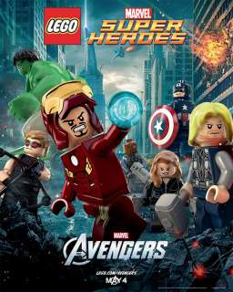AVENGERS   Mini Movie Poster   TS   LEGO MARVEL SUPER HEROES   THOR