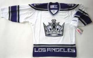 AUTHENTIC CCM LOS ANGELES KINGS WHITE JERSEY SIZE LARGE
