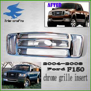 04 05 06 07 08 Ford F 150 Pickup Billet Chrome Grille Cover Grill Trim