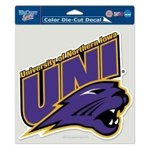 Northern Iowa Panthers Die Cut Decal   8x8 Color