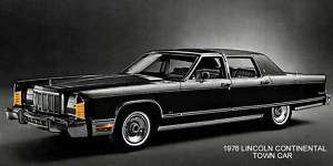 1976 LINCOLN CONTINENTAL ~ TOWN CAR (BLACK) MAGNET