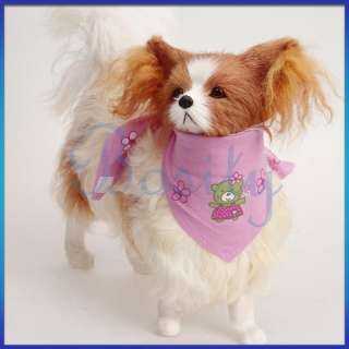Pet Dog Puppy Cat Slide on Cotton Bandana Scarf Neckerchief Collar