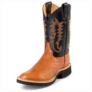 Mens JUSTIN 11 Cowboy Cognac Smooth Ostrich Skin 5016